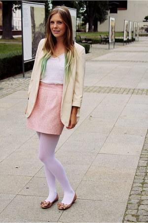 bubble gum Zara flats