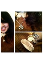 gold Michael Kors watch - fitted wool J Crew sweater - necklace