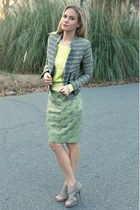lace Target skirt - tweed Target jacket - cableknit Target sweater