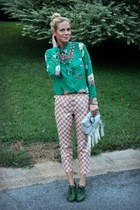 jacquard asos pants - floral print boundary & co shirt