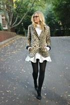 flute asos skirt - leopard print asos coat - cableknit Ralph Lauren sweater