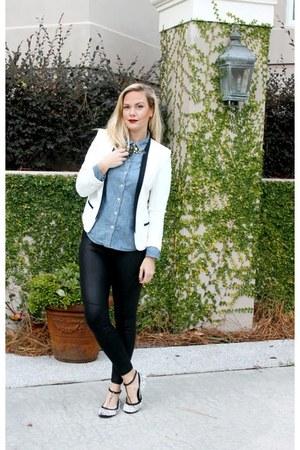 tuxedo Target blazer - spot Yosi Samra flats