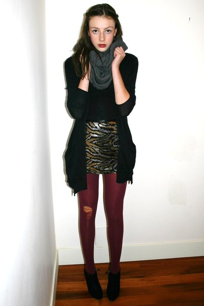 American Apparel scarf - Betsey Johnson skirt - D&G shoes