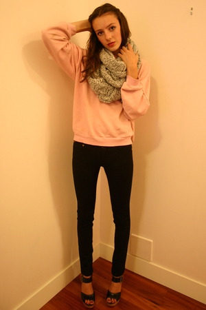H&M scarf - vintage Lacoste sweater - Marc by Marc Jacobs pants - Chloe shoes