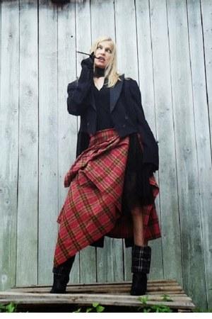 black black leather Rossi boots - black black karen millen dress