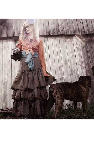 brown Gucci sunglasses - light brown boho maxi skirt wwwbabetteversuscom skirt