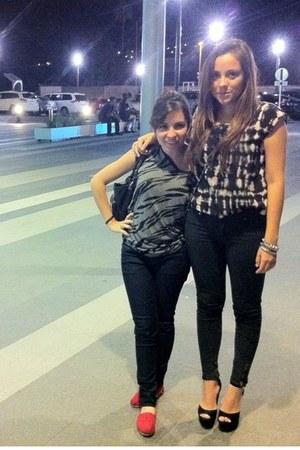platforms Steve Madden shoes - skinny Zara jeans - Forever 21 blouse