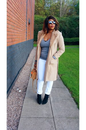 warehouse coat - julien mcdonald boots - Miss Selfridge jeans