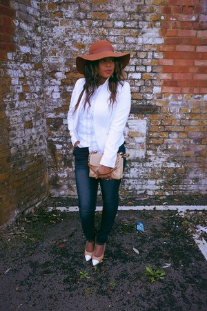 asos hat - Rocawear jeans - new look blazer - Zara shirt - Valentino bag
