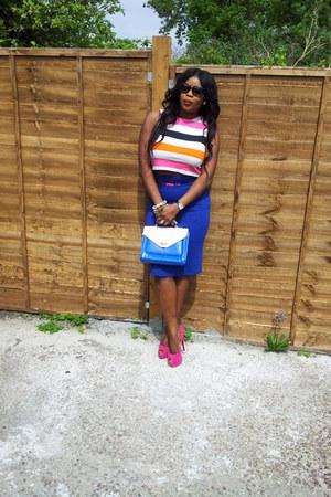 Primark bracelet - loeffler randall bag - F&F skirt - spylovebuy heels