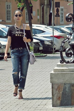 black H&M sunglasses - blue Zara jeans - light purple SIX bag