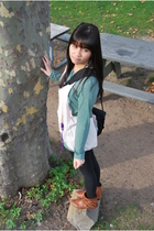 shirt - vest - leggings - staccato boots - tiffany&co accessories