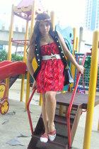 Pink Manila vest - Topshop dress - Tomato belt - REPLAY shoes - Pill purse