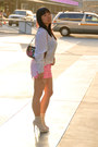 Hot-pink-shorts-white-cotton-on-blouse-white-gmarket-heels