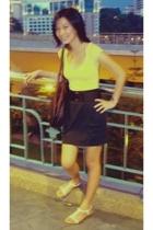 Zara t-shirt - Gaudi skirt - Rusty accessories - Vincci accessories - unbranded