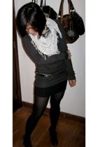 obey scarf - sweater - Kill City skirt - Target shoes - Metropark belt
