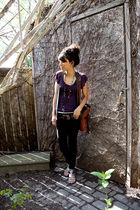 black Sirens jeans - gray Costa Blanca vest - silver Aldo shoes - brown vintage