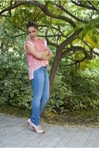BAD style top - H&M jeans - vegas heels