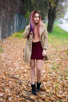 oNecklace necklace - Choies boots - Choies coat - Rebecca Minkoff bag