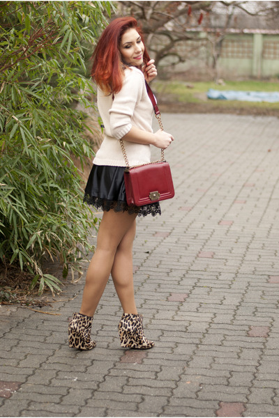 BAD style skirt - Mango boots - Choies bag - Esprit jumper