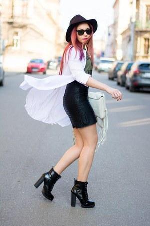 stylishcircle boots - Primark jacket - Anileda bag - BADstyle skirt