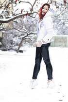 Ed Hardy hoodie - c&a leggings - Giuseppe Zanotti sneakers - Michael Kors watch