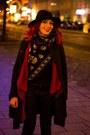 Romwe-coat-zara-jeans-choies-hat-romwe-jumper