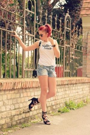 Choies bag - Diesel shorts - Choies sandals - romwe top