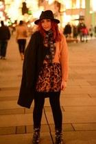 Choies skirt - romwe coat - romwe coat - Choies hat