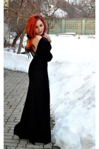 feather cape BAD style dress
