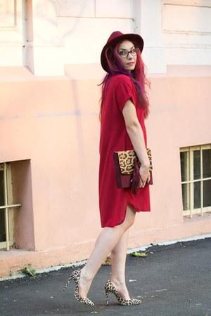 romwe dress - Choies hat - Anileda Alrac bag - zaful heels