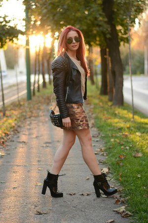 BADstyle jacket - romwe blouse - Choies skirt