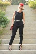 jumpsuit romwe suit - Choies bag - Choies heels - BADstyle belt