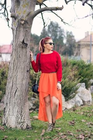 romwe jumper - Choies dress - Ray Ban sunglasses