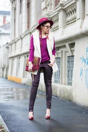 Choies hat - Anileda Alrac bag - Sheinside heels - christian paul watch