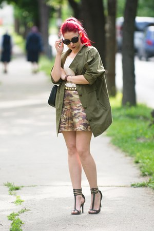 romwe jacket - Moschino sunglasses - Choies skirt - Daniel Wellington watch