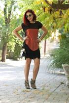 BAD style top - Mango boots - Ray Ban sunglasses - BAD style skirt
