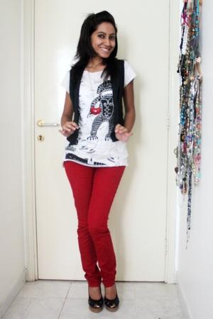 Forever21 jeans - Splash Dubai t-shirt - custom tailored in Bangkok vest - Victo