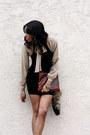 Black-bcbgmaxazria-dress-dark-brown-leather-bag-vintage-gap-bag-light-brown-