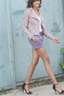 Torn-by-ronny-kobo-jacket-violet-trouser-short-forever-21-shorts
