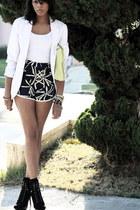 navy silk sariah shorts - black Jessica Simpson boots