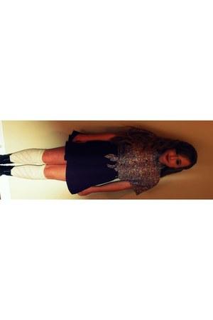 light purple American Apparel blouse - purple corduroy American Apparel skirt