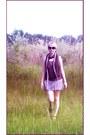 White-knitwear-scarf-dark-brown-lace-scarf-heather-gray-baggy-skirt-amethy