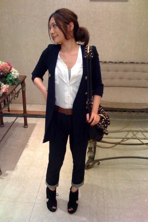 navy korea brand blazer - black Jeffrey Campbell shoes