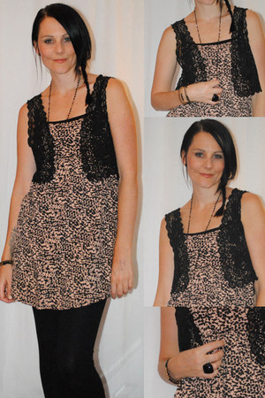 leopard print H&M dress - Monsoon vest