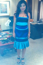 blue karen millen dress