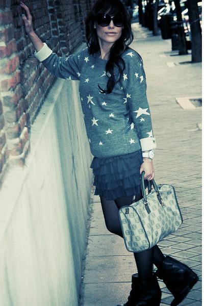 Mango sweater - ankle boots hakei boots - loewe bag - Mango sunglasses