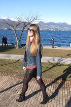 black Balmain shoes - Gucci purse - black dior sunglasses