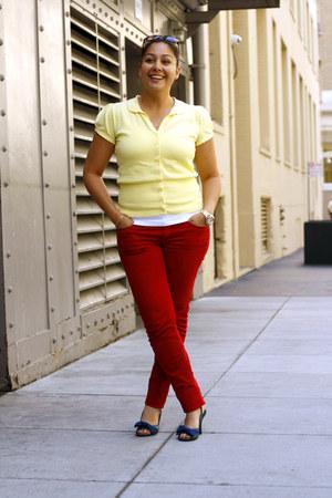 skinny jeans Hot Topic pants - bow tie heels Carlos Santana heels