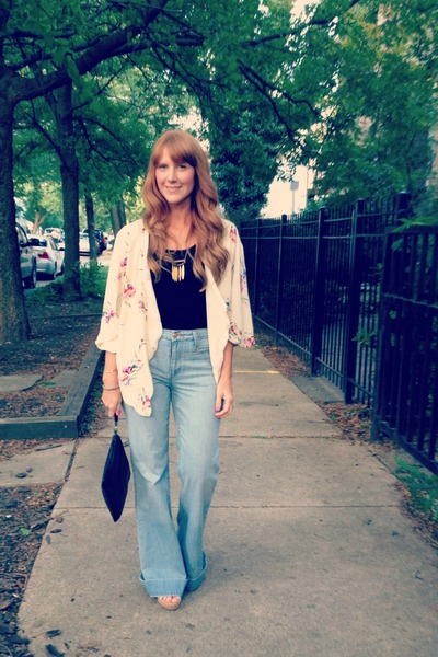 joes jeans - vintage bag - Clydes Rebirth necklace - Toms wedges